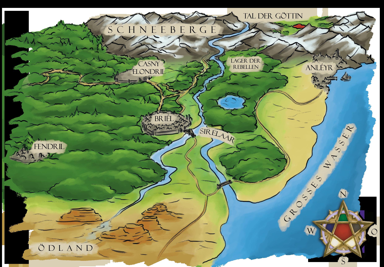 Landkarte Cara Yarash farbig
